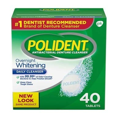 Polident Overnight Whitening Tablets - 40 ct, Pack of 6