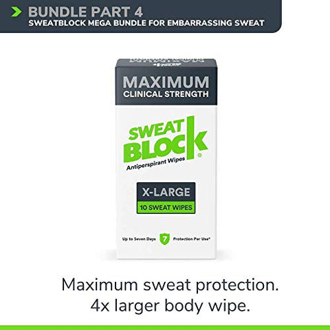SweatBlock Antiperspirant Mega-Bundle for Embarrassing Sweat and Odor - For underarms, body, hands, and feet