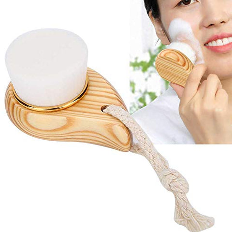 Wooden Handle Super Soft Fiber Face Cleaning Brush Facial Care Massager Brush Pore Cleansing Brush