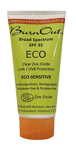 Burn Out Eco Sensitive Zinc Oxide Sunscreen Spf 35  3 Oz.