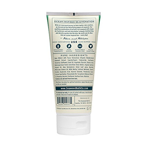 The Seaweed Bath Co. Body Cream, Unscented, Hydrating & Soothing, Natural Organic Seaweed, Paraben F
