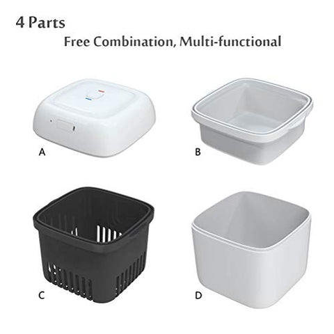 Denture Cleaner Box, Portable Denture Bath Cleaning Soaking Cup with Strainer for Denture, Mouth Guard, Invisalign, Retainer, Snore Guard Sleep Retainer (Denture Box)