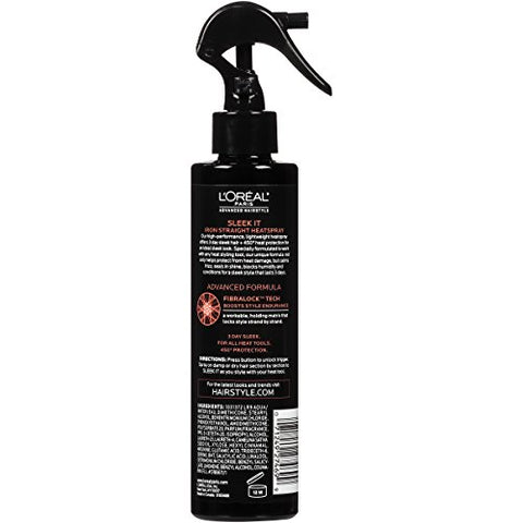 L'orã©Al Paris Advanced Hairstyle Sleek It Iron Straight Heatspray, 5.7 Fl. Oz.