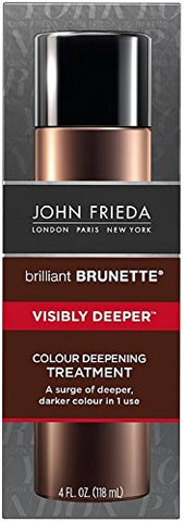 John Frieda Brilliant Brunette Colour Deepening Treatment, Visibly Deeper 4 oz (Pack of 12)