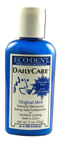Eco Dent Daily Care Baking Soda Toothpowder, Mint 2 Oz
