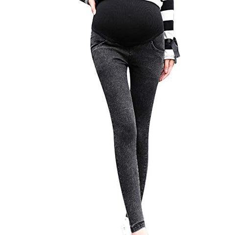 Beyonds Maternity Jeans for Women, Super Soft Stretch Secret Fit Belly Indigo Blue Skinny Pregnant Jean, Ankle Length Women's Maternity Pants Casual Nursing Leggings Trousers