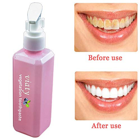 Lishiny Pressed Blueberry Toothpaste Stain Removal Whitening Gums Teeth Oral Care 100ml (100Ml)