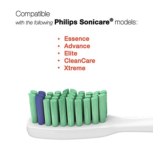 Sonimart Standard Replacement Toothbrush Heads Compatible With Sonicare E Series Hx7022, 6 Pack Stan