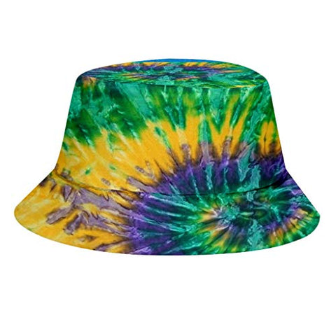 D-XinXin Fashion 3D Tie Dye Bucket Hat Unisex Outdoor Activities Sun Protection Hat Fisherman Cap Sunscreen Cap