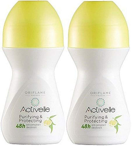 Oriflame Sweden Activelle Purifying and Protecting Anti - perspirant 48h Deodorant (50 ml) - Pack of 2