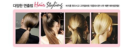 Hairpiece Stretchy Hair Ring for Girl, #yellow brown, Korean style, Kpop style, Korean Hair style