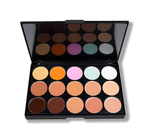 AMBER DAZZLE GODDESS CONCEALER PALETTE | WITH 15 COLORS | BLENDS BEAUTIFULLY & NATURALLY WITH SKIN | 15 CREAMY CONCEALERS | COVERAGE YOU NEED | VEGAN |CRUELTY FREE
