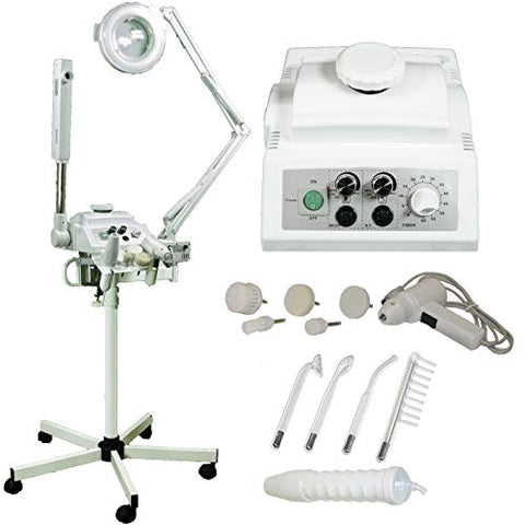 LCL Beauty 4 in 1 High Frequency, Massage Brush, Magnifying Lamp, Facial Steamer
