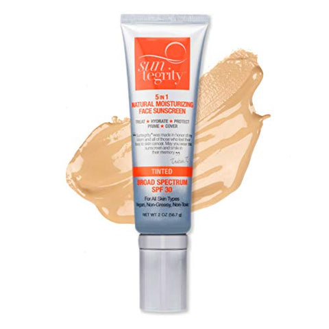 Suntegrity 5 In 1 Natural Moisturizing Face Sunscreen, Broad Spectrum Spf 30   Tinted   Golden Light