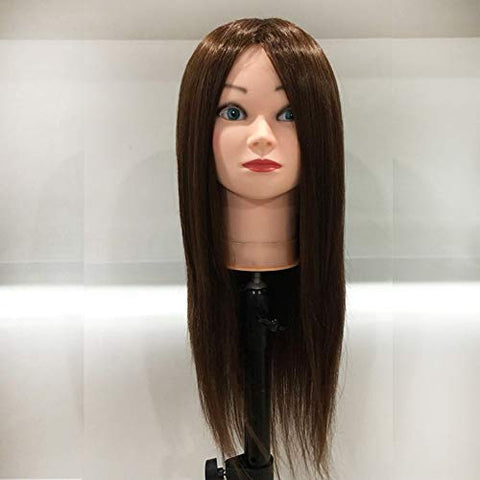 Hairdressing Head 18 inches Wig Head Women Makeup Hairdressing Dummy Doll Training Mannequin Head,Color2