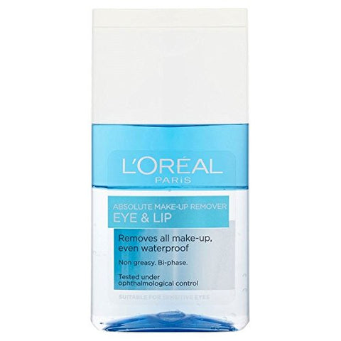 L'orã©Al Paris Dermo Expertise Absolute Eye & Lip Make Up Remover (125ml)   Pack Of 2