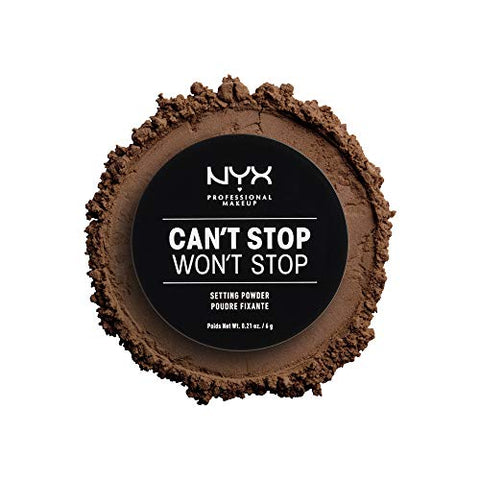 NYX Can't Stop Won't Stop Setting Powder, Deep, 0.21 ounces