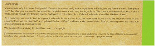 REDMOND - Earthpaste All Natural Non-Fluoride Vegan Organic Non GMO Real Ingredients Toothpaste, Spe