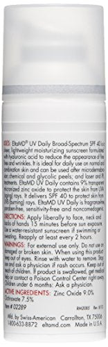 Elta Md Uv Daily Face Moisturizer With Hyaluronic Acid For Dry Skin, Broad Spectrum Spf 40, Fragrance