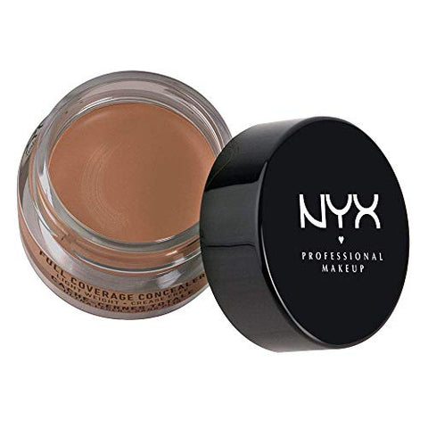 NYX Above & Beyond Full Coverage Concealer Jar-0.25 oz (Nutmeg-CJ08)