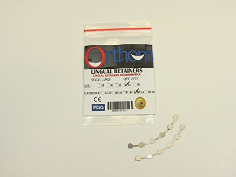 Dental Orthodontic Lingual Retainer Bonding # 44 Upper 3 3 With Mesh 2 Pcs Orthom
