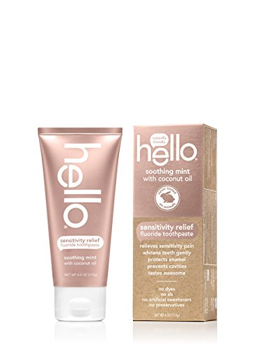 Hello Oral Care Sensitivity Relief Fluoride Toothpaste With No Artificial Sweeteners, Sls Free, Soot