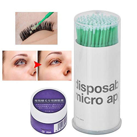 8g False Eyelash Removal Cream - Professional Eyelash Cleansing Cream - False Eyelash Gel, Eyelash Gel Remover - Eyelash Cleaning Tool