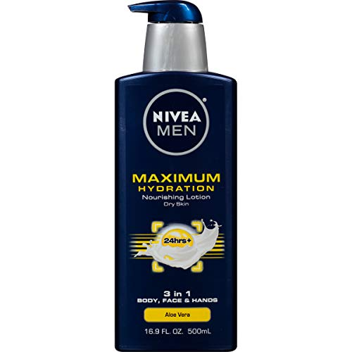 Nivea Men Maximum Hydration 3 In 1 Nourishing Lotion   Body, Face, Hands   16.9 Oz. Pump Bottle