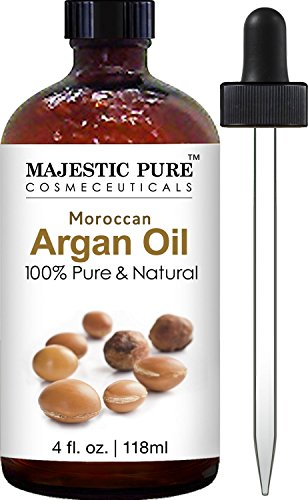 Majestic Pure Moroccan Argan Oil For Hair, Face, Nails, Beard & Cuticles   For Men And Women   Pure