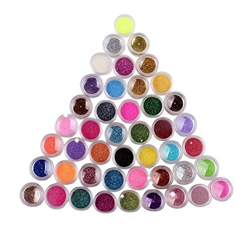 New Nail Art Make Up Body Glitter Shimmer Dust Powder Decoration  45 Colors