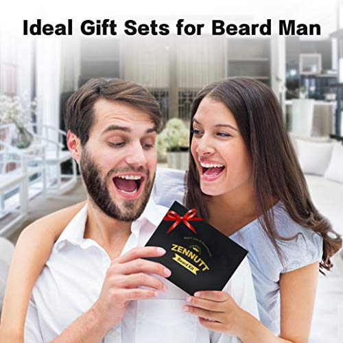 Ultimate Beard Care Kit for Men w/ Free Beard Conditioner & Beard Balm Butter & Beard Oil & 100% Boar Beard Brush & Wood Beard Comb & Beard & Mustache Scissors,Best Gift Set By ZENNUTT