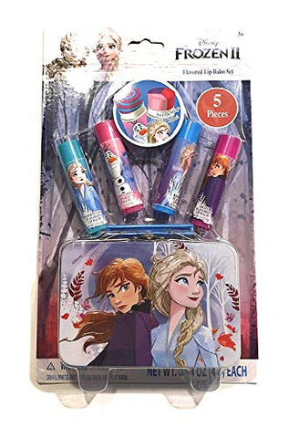 Townley Frozen 2 Flavored Lip Balm Set with Carrying Tin