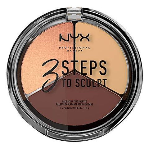 Nyx Cosmetics 3 Steps To Sculpt Face Sculpting Palette Medium