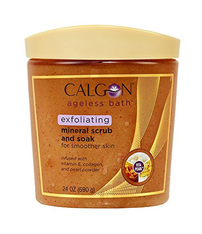 Calgon Ageless Bath Series Exfoliating Mineral Scrub and Soak (24 Ounce)