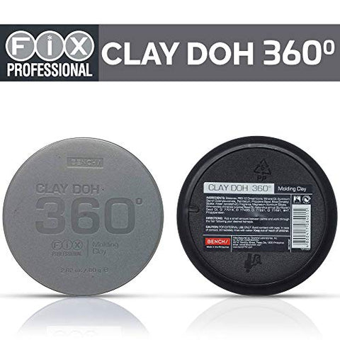 bench/ Fix Professional Clay Doh 360 Hair Molding Clay Easy Rinse Formula 2.82 ounces / 80 grams