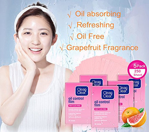 Beauty Kate Compatible Facial Oil Control Film Replacment for Clean and Clear Oil-absorbing Tissues ?Pink?5Packs?