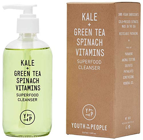 Youth To The People Kale Superfood Cleanser   Daily Gentle Face Wash With Spinach + Green Tea, Vegan