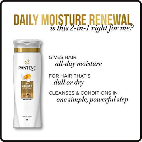 Pantene, Shampoo And Conditioner 2 In 1, Pro V Daily Moisture Renewal For Dry Hair, 25.4 Fl Oz, Pack
