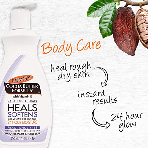 Palmer's Cocoa Butter Formula Daily Skin Therapy Body Lotion With Vitamin E, Fragrance Free | 13.5 O