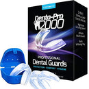 Image of DentaPro2000 Teeth Grinding Mouth Guard Eliminates Grinding, Clenching, TMJ Set Includes 3 Dental Gu