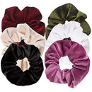 Image of Ondder 6 Pcs Hair Scrunchies For Hair Velvet Blend Cheap Scrunchies Velvet Hair Bands Scrunchy Scrun