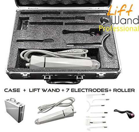 Lift Wand Professional High Frequency Machine Includes 7 Electrodes, Roller and Alumimum Case, Anti Aging Device, Diminish Wrinkles, Scars, Dark Circles, Breakthrough Device for Beauty, Anti Aging