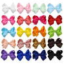 "Image of DEEKA 20 PCS Multi-colored 6"" Hand-made Grosgrain Ribbon Hair Bow Alligator Clips Hair Accessories for Little Girls"