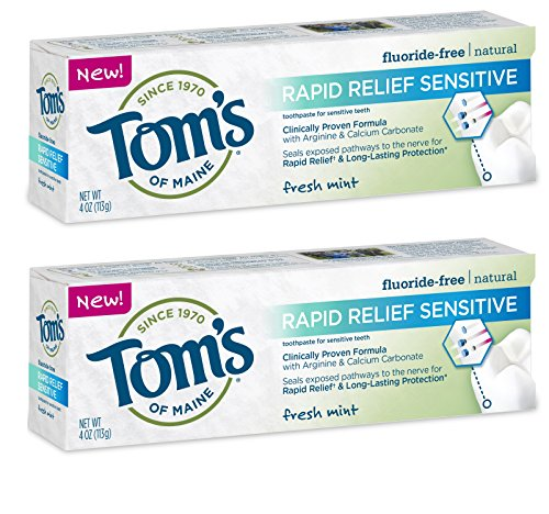 Tom's Of Maine, Natural Rapid Relief Sensitive Toothpaste, Natural Toothpaste, Sensitive Toothpaste,