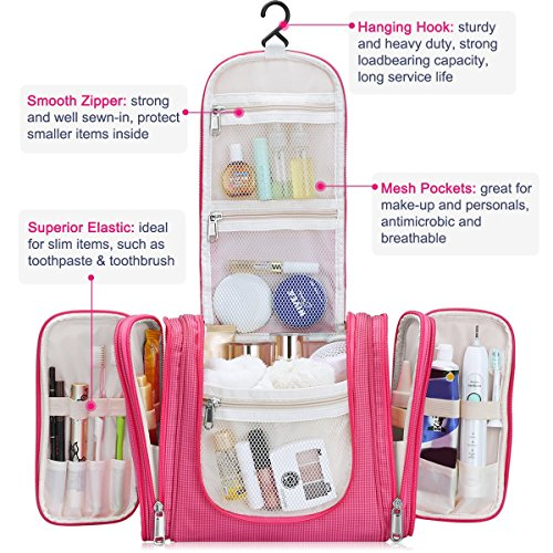 Hanging Travel Toiletry Bag For Women And Men Heavy Duty Cosmetic Bag Extra Large Bathroom Organizer