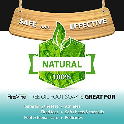 Tea Tree Oil Foot Soak with Epsom Salt - Made in USA - for Toenail Fungus, Athletes Foot, Stubborn Foot OdorScent, Fungal, Softens Calluses & Soothes Sore Tired Feet.