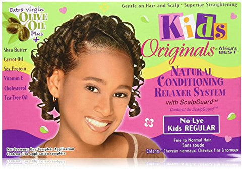 Africa's Best Kids Originals, Natural Conditioning Relaxer System with Scalp Guard 1 Ea (Pack of 3)