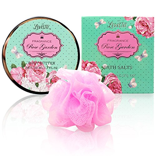 Spa Gift Basket   Bath And Body Works Set With Rose Garden Scent For Women   Spa Bath Kit & Bath Gif