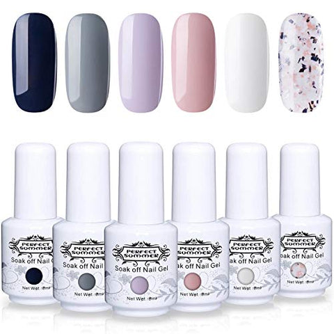Perfect Summer Semi Permanent Gel Nail Polish 6 Colors Soak Off Uv Led Manicure Fashion