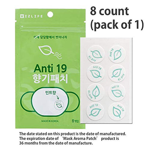 Mask Aroma Stickers (Scented face mask) Plant Oil Contains All Natural Refreshing and Fragrant-Pure Natural Essential Oil Scented Mask Patches for Refreshing Face Mask (2 Packs / 1 Pouch)-16 Stickers
